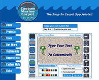 Web site design for Custom Marine Carpet